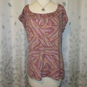 Liz & Co Short Sleeve Top Tee - Size XL
